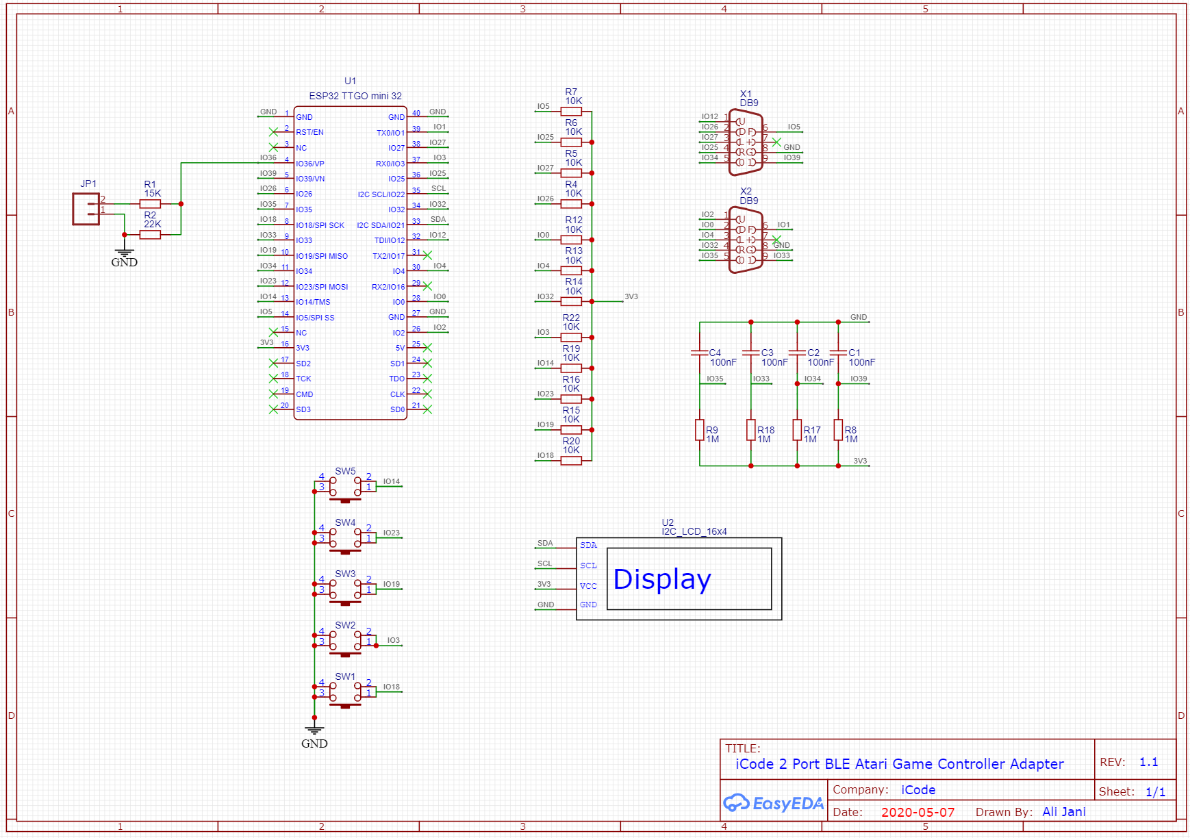 Schematic for bluetooth Atart adapter